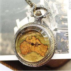 Ảnh số 45: DCDH 125_Đồng hồ quả quýt Thủy tinh Bản đồ (ĐK: 5cm) - Giá: 120.000