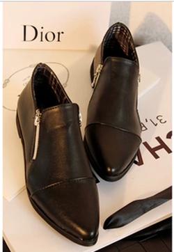 Ảnh số 88: Giày boot cổ ngắn 2 dây kéo - Giá: 200.000