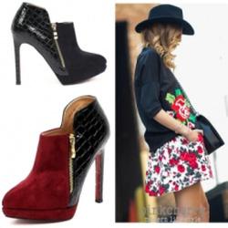 Ảnh số 60: Giày Boot Nữ Cổ Ngắn - Giá: 10.000