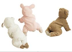 Ảnh số 39: BD515 Body lông cừu hình thỏ và gấu 3 màu ấm áp ngộ nghĩnh cho bé 6-13 cân - Giá: 280.000