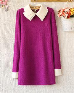 Ảnh số 5: Váy len / Size: Free Size / Màu: Xanh lá, Đen, Hồng, Tím, Tím Than, Vàng / Xuất xứ Made in Korea - Giá: 300.000