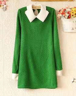 Ảnh số 7: Váy len / Size: Free Size / Màu: Xanh lá, Đen, Hồng, Tím, Tím Than, Vàng / Xuất xứ Made in Korea - Giá: 300.000