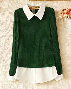 Ảnh số 2: Áo len / Size: M,L / Màu: Xanh lá, Ghi, Đỏ đun / Xuất xứ Made in Korea - Giá: 300.000