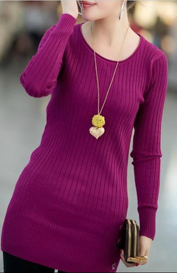 Ảnh số 35: Váy dài tay cổ tròn / Size: S, M, L / Màu: Xanh lá, hồng, đỏ đun, tím, ... / Xuất xứ Made in Korea - Giá: 300.000