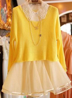 Ảnh số 52: Váy công chúa / Size: S, M, L / Màu: Vàng, Đỏ, Cát cháy / Xuất xứ Made in Korea - Giá: 350.000