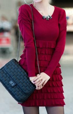 Ảnh số 68: Váy / Size: S, M, L / Màu: Đen, Đỏ đun / Xuất xứ Made in Korea - Giá: 450.000
