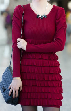 Ảnh số 69: Váy / Size: S, M, L / Màu: Đen, Đỏ đun / Xuất xứ Made in Korea - Giá: 450.000