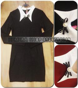 Ảnh số 19: váy len cổ sơ mi - Giá: 280.000