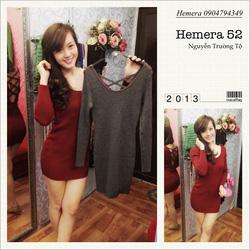 Ảnh số 29: váy len body đan lưng - Giá: 230.000
