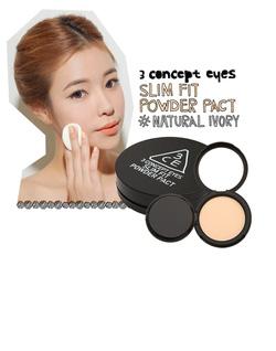 Ảnh số 67: PHẤN PHỦ SLIM FIT POWDER PACK 3 CONCEPT EYES(HÀNG CHÍNH HÃNG KOREA) - Giá: 420.000