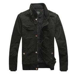 Ảnh số 4: Áo khoác kaki 4 (xanh bộ đội, đen) - Giá: 750.000