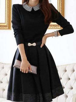 Ảnh số 30: Váy dài tay pha ren / Size: M, L / Màu: Trắng, Vàng, Đen / Xuất xứ Made in Korea - Giá: 380.000