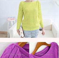 Ảnh số 26: Áo len đơn giản cổ tròn tay đan xoắn - Giá: 280.000