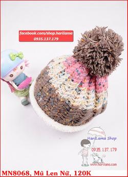 Ảnh số 22: mũ len lót bông màu hồn dành cho nữ - Giá: 123.456.789