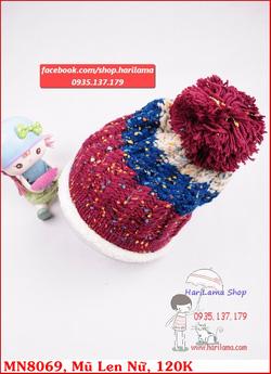 Ảnh số 23: mũ nữ siêu ấm, len đan dày dặn - Giá: 120.000