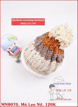 Ảnh số 24: mũ len nữ xen màu đan đẹp mắt - Giá: 123.456.789