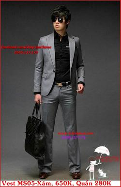 Ảnh số 27: Áo Vest Nam, Áo Vest Dior - NYQ MS05 Xám, Áo Vest Hàn, Áo Vest Cưới - Giá: 650.000
