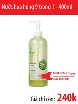Ảnh số 53: Nước hoa hồng 9 trong 1 - 9in1 Skin Solution Toner 400ml - Giá: 240.000