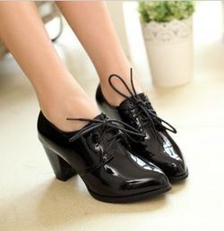 Ảnh số 8: Giày Oxford da bóng mũi nhọn 6cm - Giá: 260.000