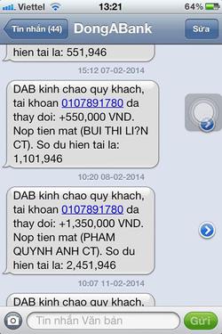 Ảnh số 25: SMS chuyển tiền của khách - Giá: 11.111