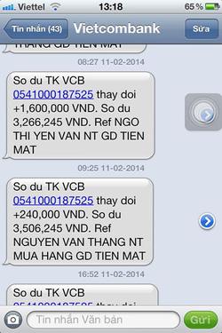 Ảnh số 27: SMS chuyển tiền của khách - Giá: 11.111