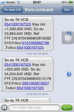 Ảnh số 29: SMS chuyển tiền của khách - Giá: 11.111