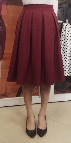 Ảnh số 6: Chân váy midi 2 túi hông, 2 lớp, vải tuytxi - Giá: 180.000