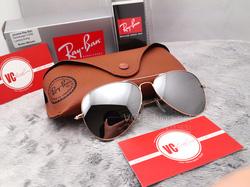 Ảnh số 13: RayBan RB3025 mắt gương bạc gọng vàng - Hàng Malaysia - Giá: 800.000