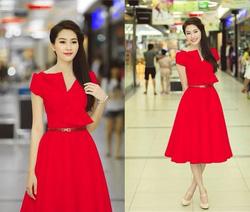 Ảnh số 16: váy cổ nơ xéo - Giá: 550.000
