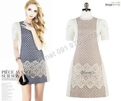 Ảnh số 100: B130 - Váy liền Hàn Quốc dáng A - Giá: 1.600.000