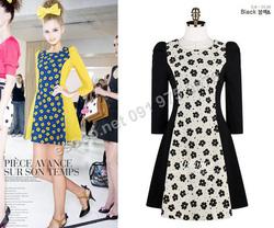 Ảnh số 98: B131 - Váy liền đáp họa tiết Hàn Quốc dáng A - Giá: 1.540.000