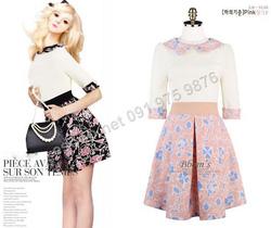 Ảnh số 95: B132 - Váy liền Hàn Quốc dáng xòe - Giá: 1.630.000