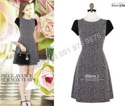 Ảnh số 88: B136 - Váy liền họa tiết Hàn Quốc dáng A - Giá: 1.700.000