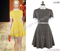 Ảnh số 87: B137 - Váy liền họa tiết Hàn Quốc dáng xòe set Belt - Giá: 1.820.000