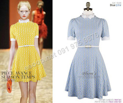 Ảnh số 86: B137 - Váy liền họa tiết Hàn Quốc dáng xòe set Belt - Giá: 1.820.000