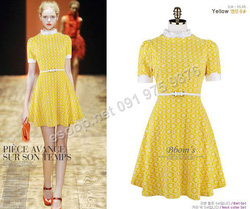 Ảnh số 85: B137 - Váy liền họa tiết Hàn Quốc dáng xòe set Belt - Giá: 1.820.000