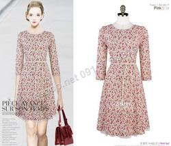 Ảnh số 84: B138 - Váy liền họa tiết Hàn Quốc dáng xòe - Giá: 1.580.000