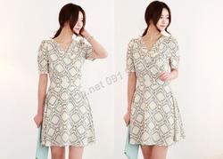 Ảnh số 78: B142 - Váy liền họa tiết Hàn Quốc dáng xòe - Giá: 1.790.000