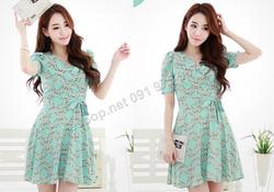 Ảnh số 77: B142 - Váy liền họa tiết Hàn Quốc dáng xòe - Giá: 1.790.000