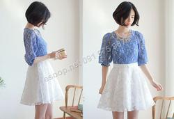 Ảnh số 64: B149 - Váy liền ren Hàn Quốc dáng xòe - Giá: 2.120.000