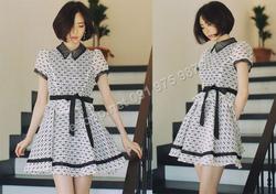Ảnh số 63: B151 - Váy liền Peplum họa tiết Hàn Quốc dáng xòe - Giá: 1.980.000