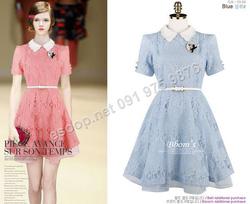 Ảnh số 74: B153 - Váy liền ren Hàn Quốc dáng xòe - Giá: 1.860.000