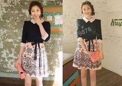 Ảnh số 60: B158 - Váy liền Hàn Quốc dáng xòe - Giá: 2.140.000