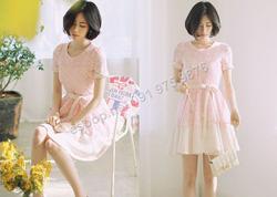 Ảnh số 58: B159 - Váy liền họa tiết nổi Hàn Quốc dáng xòe - Giá: 2.140.000