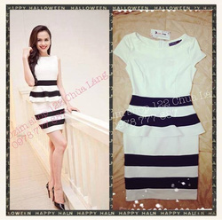 Ảnh số 43: Váy pelum fa đen trắng - Giá: 450.000
