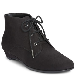 Ảnh số 6: Aerosoles size5.5, 6 , 6.5, 7, 8  Giày cao cổ màu đen da lộn  Buộc dây ốm khít cổ chân , đế liền cao 4cm - Giá: 1.800.000