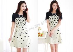 Ảnh số 52: B165 - Váy liền họa tiết Hàn Quốc dáng A - Giá: 1.870.000