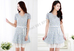 Ảnh số 51: B166 - Váy liền ren họa tiết Hàn Quốc dáng A - Giá: 1.200.000