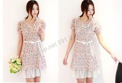 Ảnh số 50: B166 - Váy liền ren họa tiết Hàn Quốc dáng A - Giá: 1.200.000
