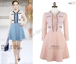 Ảnh số 42: B156 - Váy liền ren Hàn Quốc dáng xòe - Giá: 1.850.000